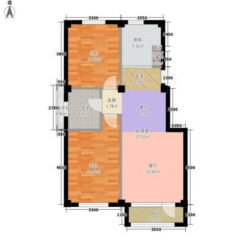 金桂苑2室0厅1卫1厨96.00㎡户型图