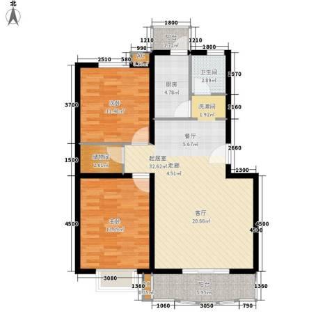 林业厅家属院2室0厅1卫1厨109.00㎡户型图