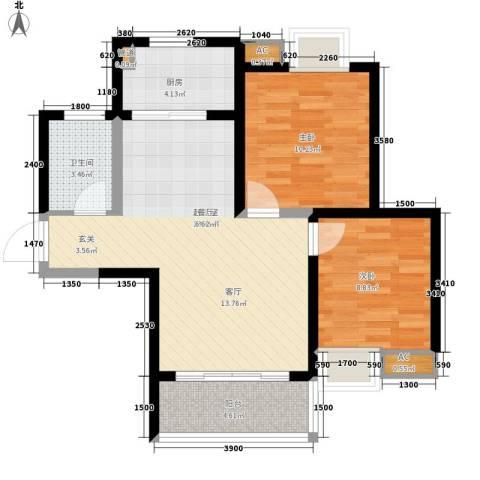 林业厅家属院2室0厅1卫1厨82.00㎡户型图