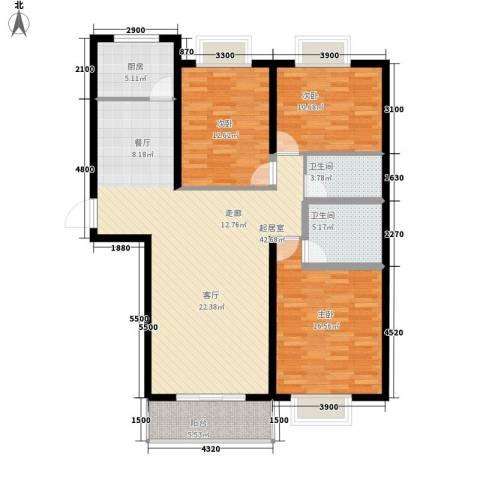 捷瑞小区3室0厅2卫1厨144.00㎡户型图