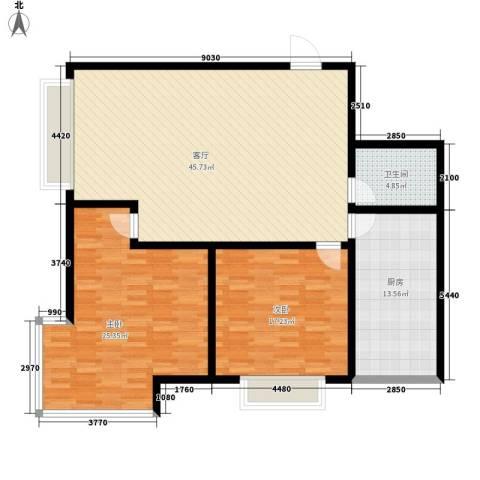 公务员小区(二期)2室1厅1卫1厨113.00㎡户型图
