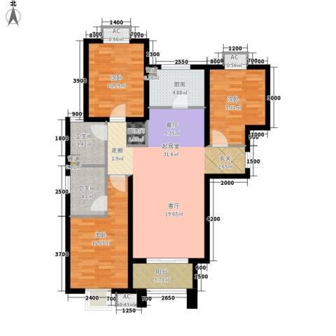 金桂苑3室0厅2卫1厨117.00㎡户型图