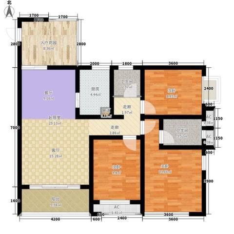 汇金园3室0厅2卫1厨130.00㎡户型图