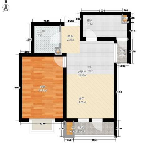 观锦1室0厅1卫1厨74.00㎡户型图