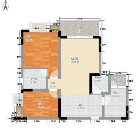 青河世家2室0厅2卫1厨74.00㎡户型图