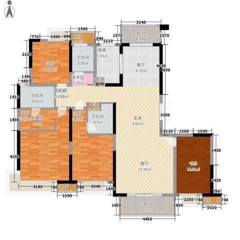 南昌莱蒙都会4室0厅3卫1厨168.00㎡户型图