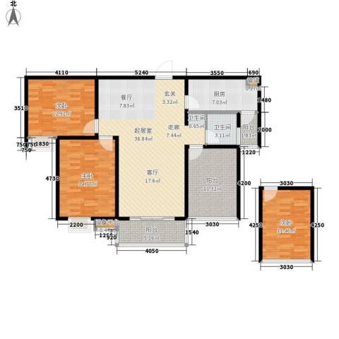 中央商务区3室0厅1卫1厨148.00㎡户型图