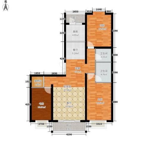 长乐湾3室0厅2卫1厨140.00㎡户型图