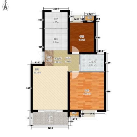 丽阳景苑二期2室1厅1卫1厨88.00㎡户型图