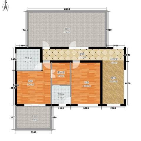 时光墅2室0厅2卫0厨456.00㎡户型图