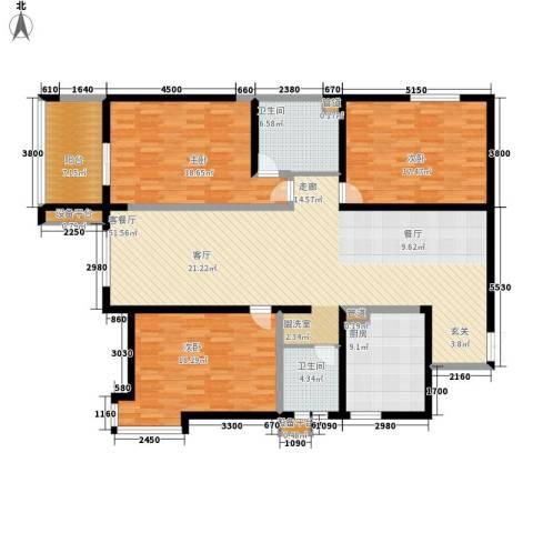 阳光嘉苑3室1厅2卫1厨152.00㎡户型图