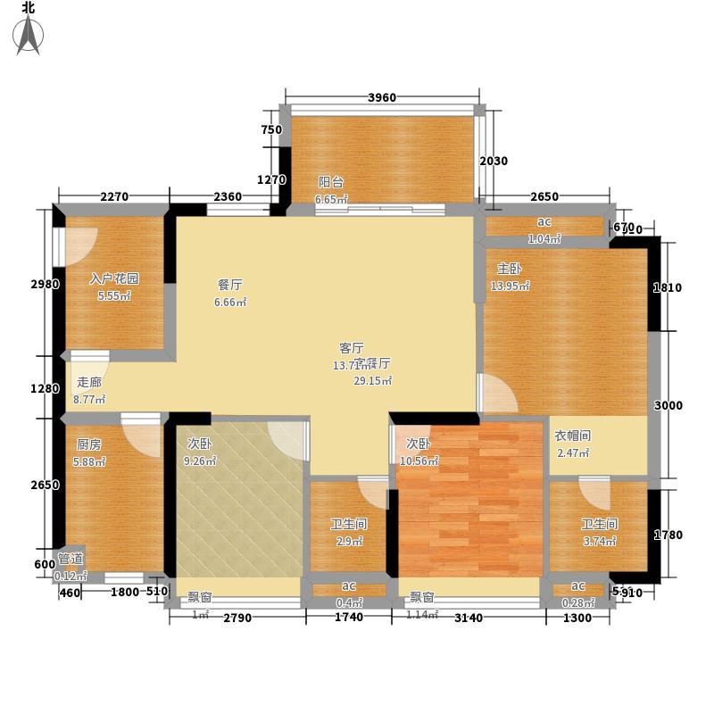 金凯盛誉城122.49㎡4栋1单元023室户型