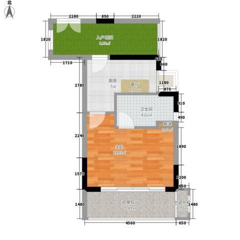 逸泉山庄别墅1室0厅1卫1厨45.00㎡户型图