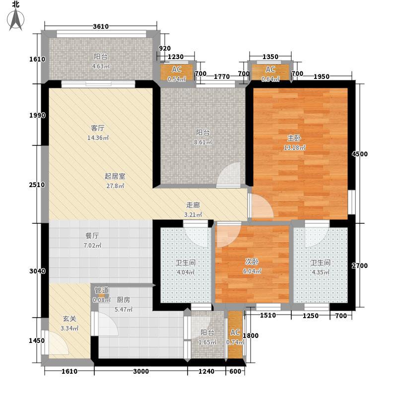 合能四季康城97.12㎡二期5号楼楼面积9712m户型
