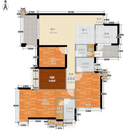 增城雅居乐御宾府4室0厅3卫1厨144.00㎡户型图