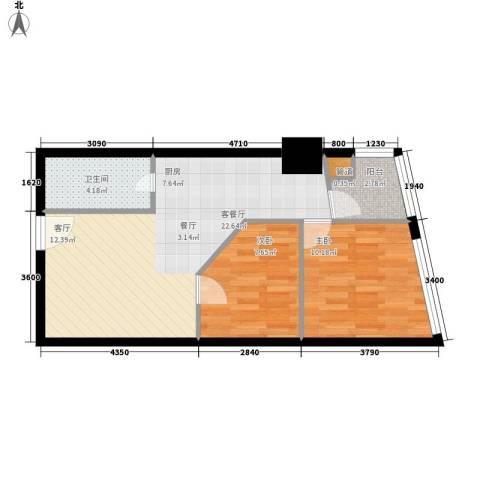 美力・com2室1厅1卫0厨68.00㎡户型图