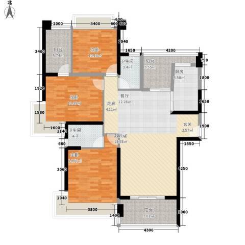 中澳滨河湾3室0厅2卫1厨139.00㎡户型图