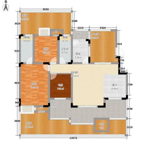 中铁山水天下3室1厅2卫1厨162.99㎡户型图