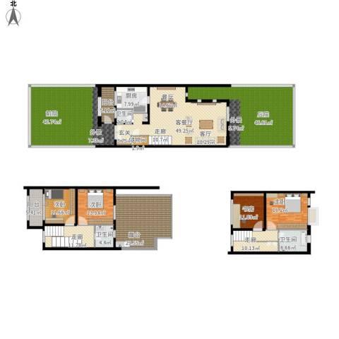 张江汤臣豪园别墅4室1厅3卫1厨391.00㎡户型图