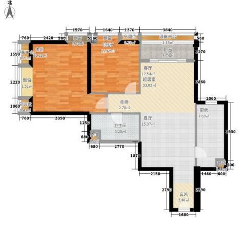璟泰大厦2室0厅1卫1厨99.00㎡户型图