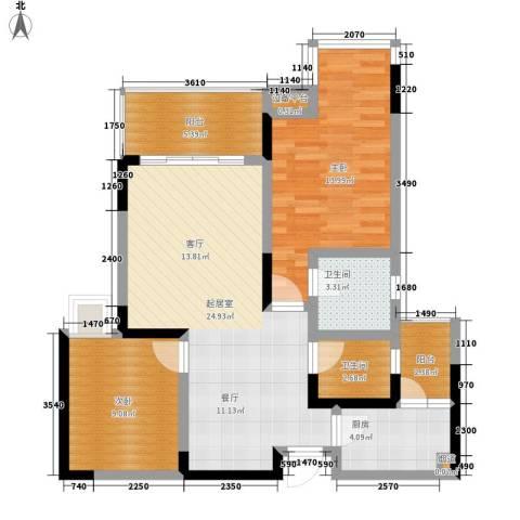 雅典汇2室0厅2卫1厨75.00㎡户型图