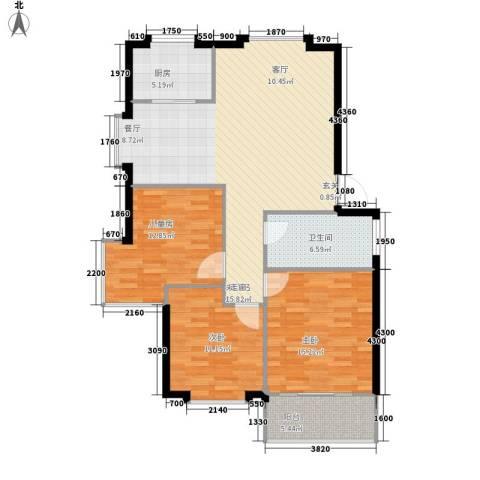 宏福佳园3室0厅1卫1厨101.00㎡户型图