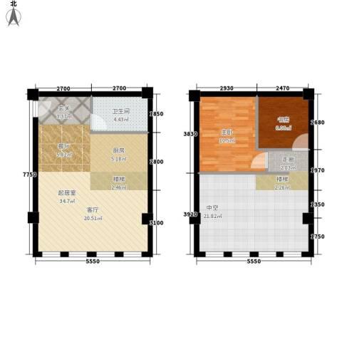 水文巷银行家属院2室0厅1卫0厨108.00㎡户型图