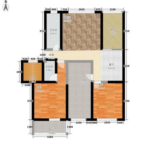 滨海龙城一期3室0厅2卫1厨130.00㎡户型图