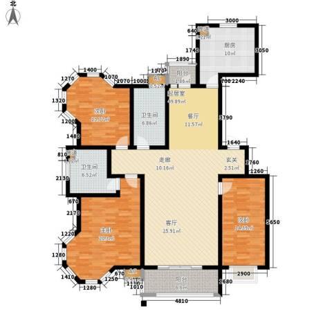 绿洲新城3室0厅2卫1厨150.00㎡户型图