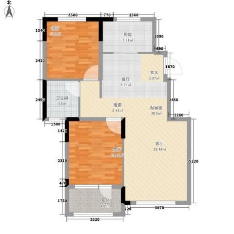 旺力・学府壹号2室0厅1卫1厨110.00㎡户型图