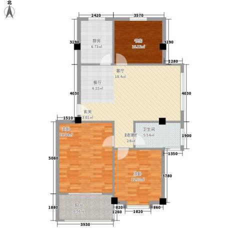 四季康城3室0厅1卫1厨98.00㎡户型图
