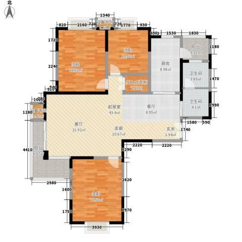 铜冠花园3室0厅2卫1厨165.00㎡户型图