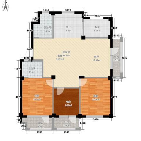 澳海澜庭3室0厅2卫1厨146.00㎡户型图