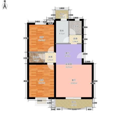 金桂苑2室0厅1卫1厨108.00㎡户型图
