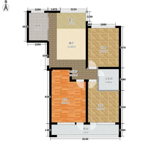 凯旋国际花园3室1厅1卫1厨125.00㎡户型图