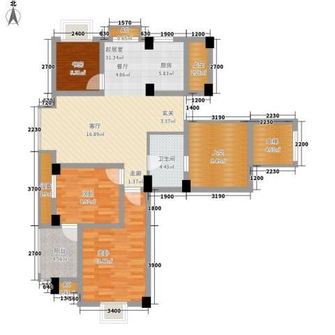 日月城三期中央世家3室0厅1卫0厨99.00㎡户型图