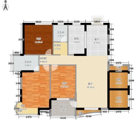 孔目江1号3室0厅2卫1厨132.00㎡户型图
