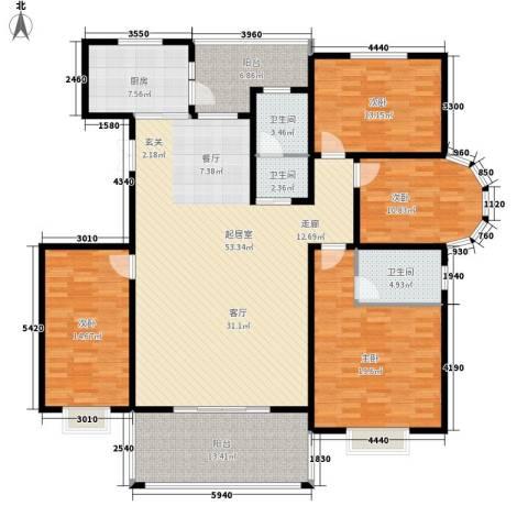 智恒・爱丁堡4室0厅3卫1厨208.00㎡户型图