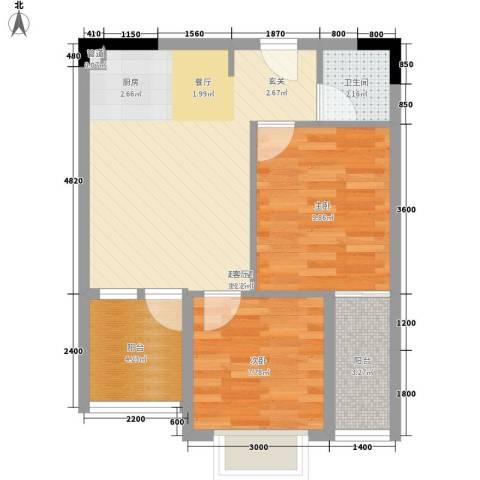 龙泉名都三期2室0厅1卫0厨67.00㎡户型图