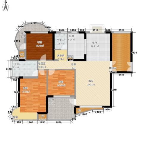 孔目江1号3室0厅2卫1厨138.00㎡户型图