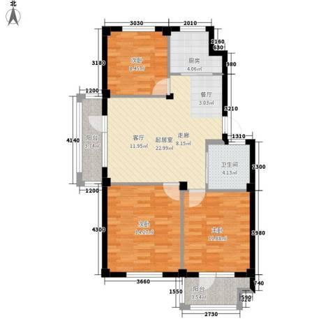 澳海澜庭3室0厅1卫1厨104.00㎡户型图
