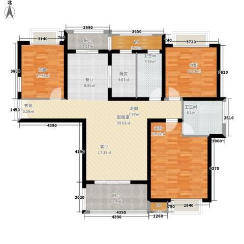 汉鼎瑞和园3室0厅2卫1厨127.00㎡户型图