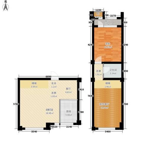 龙栖江南1室0厅1卫1厨103.00㎡户型图