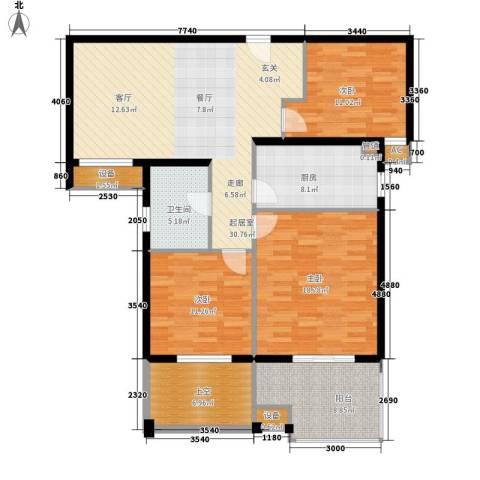 汇景东方花园3室0厅1卫1厨103.58㎡户型图