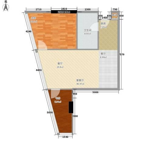 深圳湾2室1厅1卫0厨92.00㎡户型图