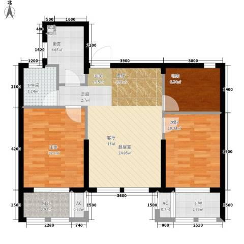 电力公司家属院3室0厅1卫1厨98.00㎡户型图