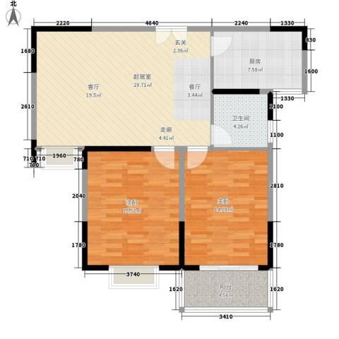 铜冠花园2室0厅1卫1厨105.00㎡户型图