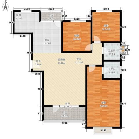 智恒・爱丁堡3室0厅2卫0厨172.00㎡户型图