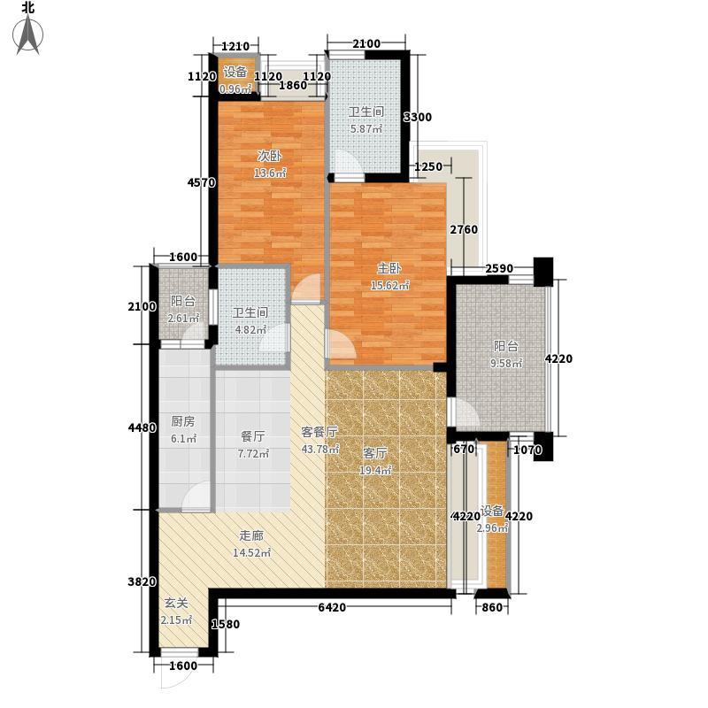 西城的湖90.00㎡一期4号楼标准层户型