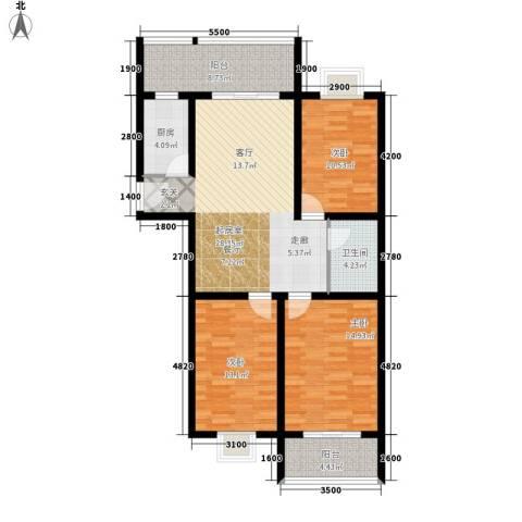 曲江经典3室0厅1卫1厨129.00㎡户型图
